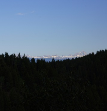 Tetons from above Warm River, Idaho